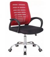 Pasukama biuro kėdė VANGALOO DM8101, raudona/juoda Profesionāla biroja krēsli