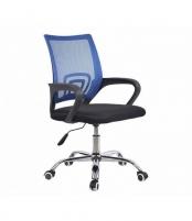 Pasukama biuro kėdė VANGALOO DM8136, juoda su mėlynu atlošu Profesionāla biroja krēsli