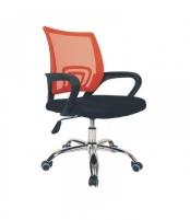 Pasukama biuro kėdė VANGALOO DM8136, juoda su oranžiniu atlošu Profesionāla biroja krēsli