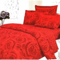 Patalynės komplektas Raudonoji Rožė, 4 dalių, 180x200 cm