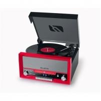 Patefonas Muse Turntable micro system MT-110 RD USB port, 3 speeds Muzikiniai centrai, patefonai