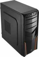 PC korpusas be PSU Aerocool PGS V2X BLACK / ORANGE ATX , USB3.0