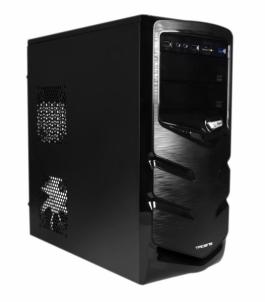 PC korpusas be PSU Tacens FERRO ATX, USB 3.0, Card Reader, Juodas
