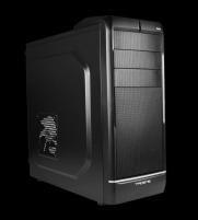 PC korpusas Tacens FORTIS, Midi Tower, USB3, Juodas