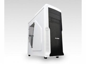 PC korpusas Zalman Z3 Plus Baltas, Midi tower (USB3, su langeliu, be PSU)