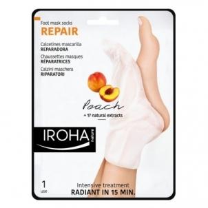 Pėdų kaukė Iroha ( Repair Foot Mask Socks Peach) 2 x 9 ml Kojų priežiūros priemonės