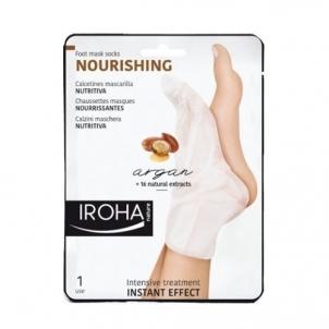 Pėdų kaukė Iroha Nourishing (Nourishing Foot Mask Socks Argan) 2 x 9 ml Kojų priežiūros priemonės