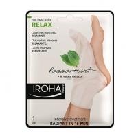 Pėdų kaukė Iroha Relaxing (Peppermint Foot Mask Socks Relax) and Nails with Mint and Natural Extracts (Peppermint Foot Mask Socks Relax) 2 x 9 ml Kojų priežiūros priemonės