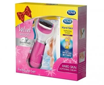 Pėdų šveitiklis Scholl Velvet Smooth Pink Foot Care Kit Kojų priežiūros priemonės