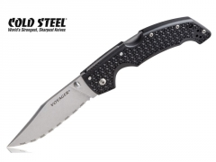 Knife Cold Steel Voyager Large Clip Point BD1 Serrated Edge Knives and other tools