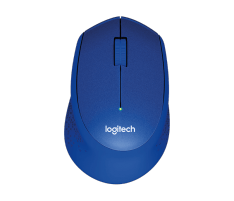 Pelė Logitech® M330 Silent Plus BLUE - IN-HOUSE/EMS,NO LANG,EMEA,RETAIL,2.4GHZ,M-R005