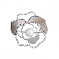 Perlų sagė 2in1 su tikru baltu perlu ir perlamutru JwL Luxury Pearls JL0627 Brooch hanger