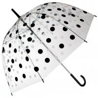 Permatomas skėtis su juodais ir baltais taškeliais Noderīga tidbits