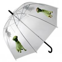 Permatomas skėtis su šuniuku Noderīga tidbits