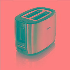 PHILIPS HD2628 Toaster, settings: 7 950 W,Cord length: 0.85m Black metal brush Toasters, deep fryers