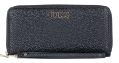Piniginė Guess Alby Slg Large Zip Around Black-Bla Maki/gadījumos