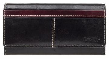 Piniginė Lagen Ladies leather wallet 9770 Black + Red