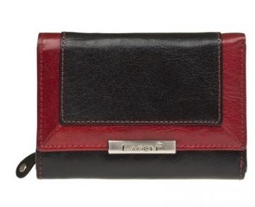 Piniginė Lagen Ladies leather wallet Black / Red LN / 1496/1213
