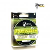 Pintas valas AKARA Power Green 150, 0.10 mm Zvejas velsiešu cilvēki