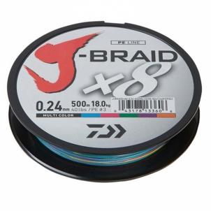 Pintas Valas J-BRAID X8 0.10mm 150m Multicolor Zvejas velsiešu cilvēki
