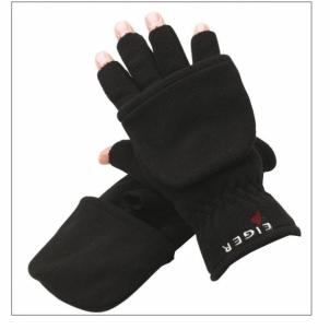 Pirštinės EIGER Fleece Gloves Combi black