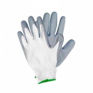 Pirštinės nailoninės padengtos nitrilu 01-TM45 Siūtos darba cimdi