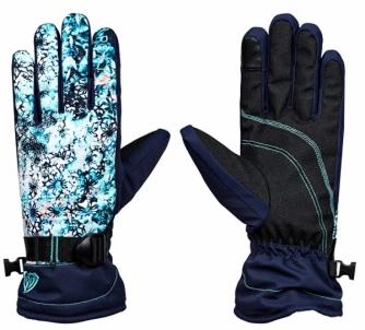 Pirštinės Roxy Winter Gloves Rx Jetty Gloves KALEIDOS Flow er s ERJHN03068-BFK9 Cimdi