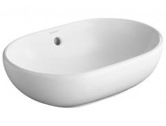 Plain basin 50 cm Foster white,w. overflow, w/o