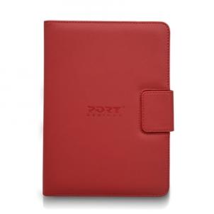"""Planšetinio kompiuterio dėklas PORT DESIGNS MUSKOKA Universal Red tablet case 10"""" Planšetinių kompiuterių priedai"""