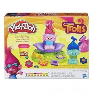 Plastelinas B9027 Play-Doh Dreamworks Trolls Press n Style Salon Educational toys