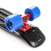 Plastikinė riedlentė METEOR juoda/raudona/mėlyna