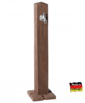 Plastikinė vandens kolonėlė Woody, tamsios medienos imitacija