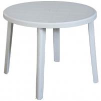 Plastic round table Zeus