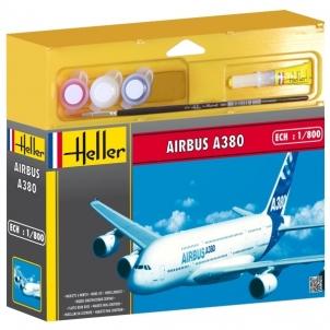 Plastikinis modelio rinkinys Heller 49075 Lėktuvas - Airbus A 380 1:800 Klijuojami modeliai vaikams