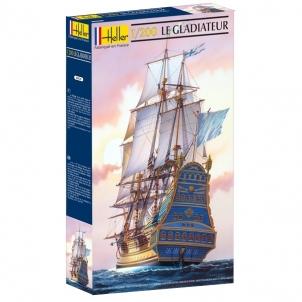 Plastikinis modelio rinkinys Heller 80826 Laivas LE GLADIATEUR 1:200 Nūju modeļus bērniem