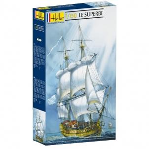 Plastikinis modelio rinkinys Heller 80895 Laivas - Le Superbe 1:150 Stick patterns for kids