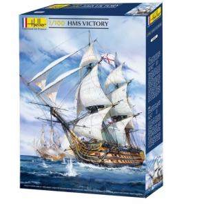Plastikinis modelio rinkinys Heller 80897 Laivas H.M.S.Victory 1:100 Klijuojami modeliai vaikams