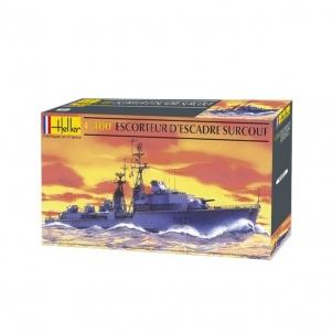 Plastikinis modelio rinkinys Heller 81013 Laivas Escorteur d'Escadre Surcouf 1:400 Stick patterns for kids