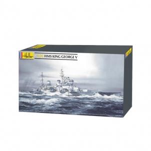 Plastikinis modelio rinkinys Heller 81088 Laivas HMS King George V 1:400 Stick patterns for kids