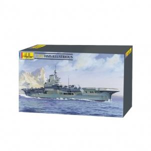 Plastikinis modelio rinkinys Heller 81089 Laivas HMS Illustrious 1:400 Stick patterns for kids