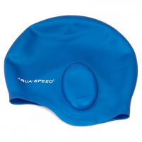 Plaukimo kepuraitė Aqua Speed EAR CAP, Spalva juoda Plaukimo apranga