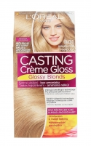 Plaukų dažai L´Oreal Paris Casting Creme Gloss Glossy Blonds Cosmetic 1ks Shade 801 Silky Blonde Plaukų dažai
