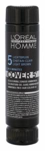 Plaukų dažai L´Oreal Paris Homme Cover 5 Hair Color Cosmetic 3x50ml (Light Brown) Plaukų dažai
