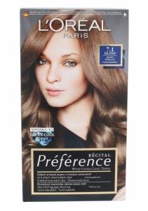 Plaukų dažai L´Oreal Paris Préférence Récital Hair Colour Cosmetic 1ks Shade 7.1 Island Plaukų dažai