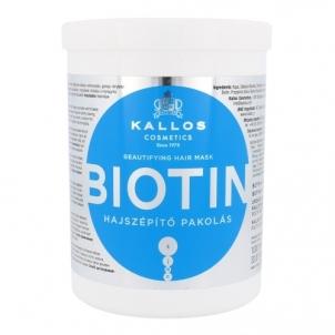 Plaukų kaukė Kallos Biotin Hair Mask Cosmetic 1000ml Kaukės plaukams