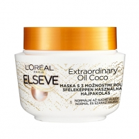 Plaukų kaukė Loreal Paris Hair mask with coconut oil for normal to dry, Elseve hair Elseve Extraordinary Oil 300 ml