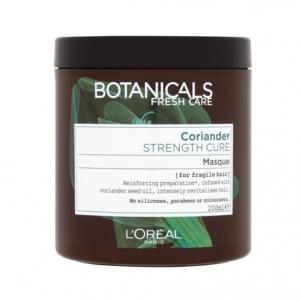 Plaukų kaukė Loreal Paris Strengthening Mask for Straight and Fine Hair Botanicals (Strenght Cure Mask) 200 ml Kaukės plaukams
