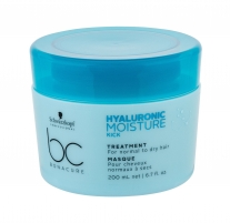 Plaukų kaukė Schwarzkopf BC Bonacure Hyaluronic Moisture Kick Hair Mask 200ml Kaukės plaukams