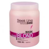 Plaukų kaukė Stapiz Sleek Line Blush Blond Mask Cosmetic 1000ml