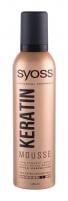Plaukų putos Syoss Professional Performance Keratin Mousse Hair Mousse 250ml Plaukų modeliavimo priemonės